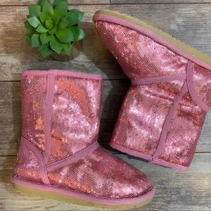 Children's Place Boots Sequin Pink Size 2 Girls